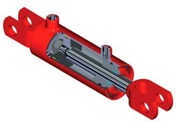 """Top Line"" 8 Inch (20.32 cm) Stroke Welded Hydraulic Cylinders"